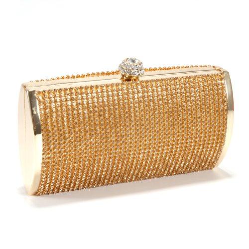 Luxus Krone Damentasche Tasche Clutch Handtasche Abendtasche Brauttasche mit Strass golden
