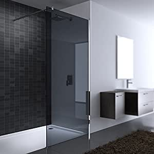 paroi de douche pare douche verre de s curit teint e gris fonc douche l 39 italienne bremen 1vg. Black Bedroom Furniture Sets. Home Design Ideas