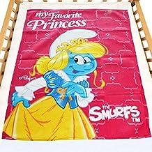 The Smurfs Baby Blanket - 76x102cm - Light Blue