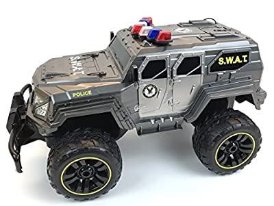 BUSDUGA - 2486 RC Monstertruck Polizei SWAT, 1:12 , RTR, inkl. 13 LED Lichter , Signallichter mit 4 Intervallen von BUSDUGA