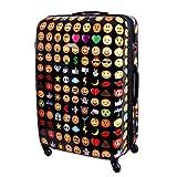 XXL Karry Hartschalen Reise Koffer Reisekoffer Trolley TSA Zahlenschloss 110 Liter Emoji 820