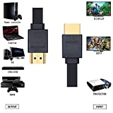 Shuliancable Flat HDMI High Speed HDMI Cable With Ethernet Supports 1080p 3D and Audio Return Channel 1m 2m 3m 5m 10m (10M)