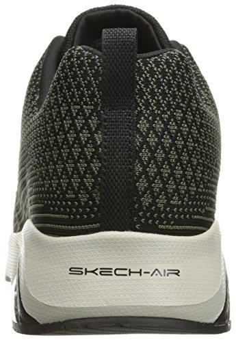Skechers Skech Air-Extreme, Scarpe Running Uomo Nero (Olive Black)