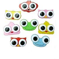 3 Unds. Lentilleros estuche lentes de contacto diseños mix viajes, gimnasio, mochila, bolso, camping, fiesta pijamas, coche, todas las ocasiones 8 x 5 cm de CHIPYHOME
