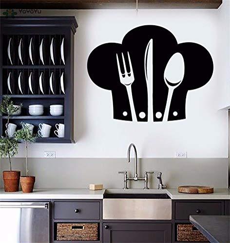 Wandtattoo Wohnzimmer Wandtattoo Schlafzimmer Küchenchef-Hut-Muster für Restaurant-Dekor