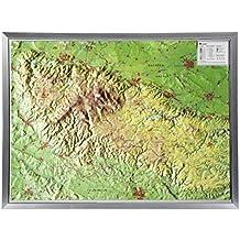 Harz 1:200.000 ohne Rahmen: Reliefkarte vom Harz ohne Rahmen (Tiefgezogenes Kunststoffrelief)