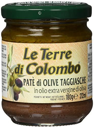 Le terre di colombo - patè di olive taggiasca in olio extravergine di oliva (10%), confezione da 6, 212 ml
