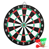 Yaheetech Profi Dartscheibe Dartboard inkl. 6 Dartpfeile