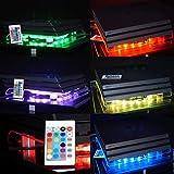 """VINCORP USB Design K�hler """" Multicolor RGB """" LED 19cm L�fter & St�nder Stand f�r Playstation 4 / 3 sowie PS4 Pro und Slim Variante Bild"""