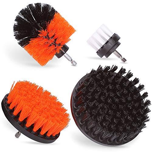 ALTRAPO Bürstenaufsatz für die Bohrmaschine - Universell passende Bürste für den Akkuschrauber - Scrubber Set bestehend aus 4 Bürsten mit unterschiedlichen Härtegraden