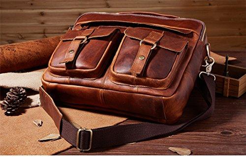 Marwar, Herren Schultertasche Kmwb207-chocolate Kmwb207-colore Rosso