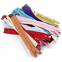 50 x cerniere lampo in nylon lunghe 18 cm, da cucire a vestiti, colori casuali
