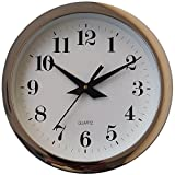 FurnishGlory Fancy And Designer Wall Clock For Home, Offices, Bedroom, Living Room And Kitchen (22 cm x 22 cm , Step Movement, Silver)