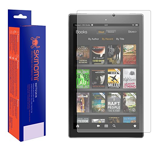 Skinomi Displayschutzfolie für Amazon Fire (2015) (vollständige Abdeckung, matt), blendfrei, Anti-Fingerabdruck/Blasenfrei (Gelb Kindle Abdeckung)