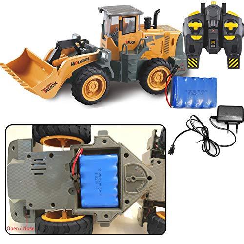 RC Auto kaufen Spielzeug Bild 6: 332PageAnn Rc Bagger Spielzeugauto Radlader Baufahrzeuge, 6 Kanal Simulationsfahrzeug Geburtstagsgeschenk Für Kinder*
