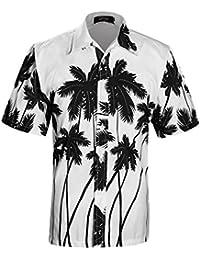 APTRO Men's Hawaiian Shirt Printing Short Sleeved Aloha Shirts ST22
