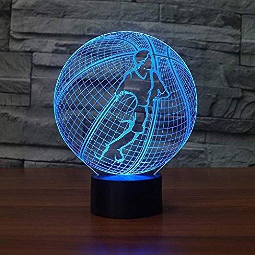 HPBN8 3D Basketball Illusions LED Lampen Tolle 7 Farbwechsel Acryl Berühren Tabelle Schreibtisch-Nacht licht mit USB-Kabel für Kinder Schlafzimmer Geburtstagsgeschenke Geschenk