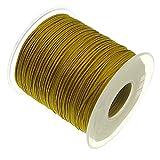 My-Bead 90m Nylonband Kordel 1mm Gold Wasserfest Nylonschnur Top Qualität Schmuckherstellung basteln DIY