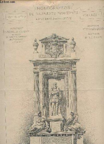 MONUMENT L'AMIRAL DE COLIGNY AU CHEVET DU TEMPLE DE L'ORATOIRE SAINT HONORE A PARIS - DE Mr SCELLIER DE GISORS, ARCHITECTE ET Mr G. CRAUK, SCULPTEUR / N°123 de la COLLECTION