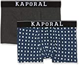 Kaporal QUAGO Boxer Homme, 2er Pack|#2 per Pack, Multicolore (Blue Us Blue Us), Taille Fabricant: S