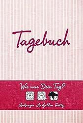 Tagebuch (rot): Wie war Dein Tag? Ankreuzen - Ausfüllen - Fertig
