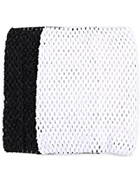 "Tube top - SODIAL(R)Tube top for girl child tutu dress hook material 9 ""black white"