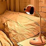 OUSENR Tischlampen Usb Led Cute Puppy Muster Flexible Schreibtischleuchte Mit Night Light Touch Schalter Dimmer Akku Schreibtisch Licht Kreativen Stil, 01.