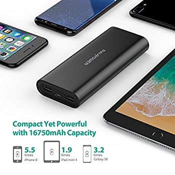 Ravpower Portable Charger 16750mah Upgraded Power Bank 4.5a Dual Usb Output Ultra External Battery Pack For For Iphone, Samsung Galaxy, Tablets & More – Black 2