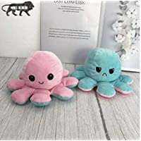 Cute & Lovable Reversible Octopus to Express Mood Soft Toy 16cm||Soft Toys||Girls||Kids||Stuffed Toy