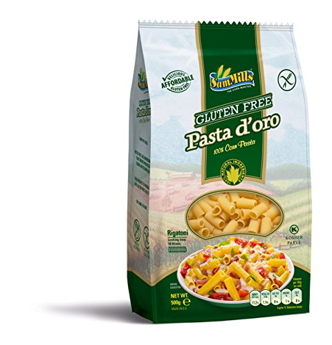 Pasta d´oro – Glutenfreie Nudeln Rigatoni aus Maismehl 12er Pack (12 x 500 g)