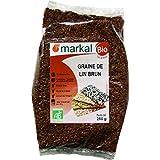Semillas de Lino marrón biológicas - Semillas de Linaza marrón ecológicas (orgánica) | 250g | Markal