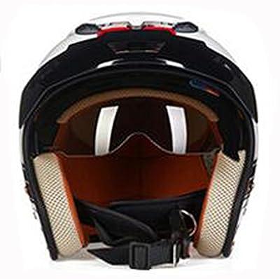 YIHANG Electric Motorcycle Semi-helmet Men And Women Fashion Four Seasons Personalized Retro Riding Helmets by Yihang Processing plant