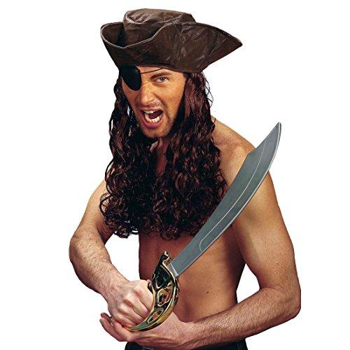 NET TOYS Piraten Säbel Schwert Degen als Kostüm Zubehör Piratensäbel Piratenschwert Kinderschwert Fasching ()