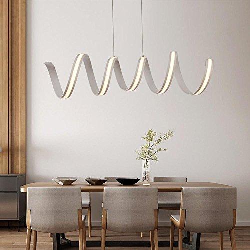 Henley LED Pendelleuchte Modern Beleuchtung Hängelampe Höhenverstellbar  Lampe Kreative Design Deckenleuchte 48W Pendellampe Für Wohnzimmer Küche  Weiß Acryl ...