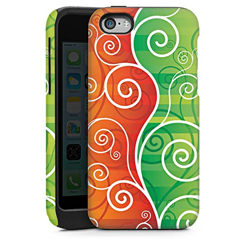 Apple iPhone 4 Housse Étui Silicone Coque Protection Floral Fioriture Vrilles Cas Tough brillant