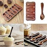 Gaddrt cucchiaio stampo in silicone, stampo per biscotti al cioccolato caramelle gelatina di cottura Mold DIY baking Tool