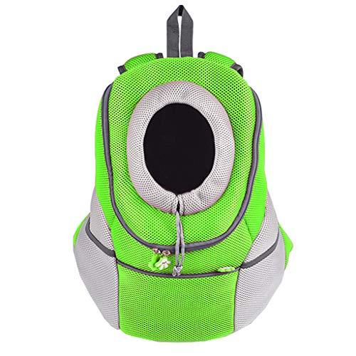 LXYUCWB Portable Rucksack Hund Katze Brust Haustier Rucksack Outdoor-Rucksack (Orange, Pink, Grün, Blau)