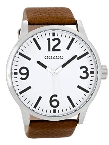 Oozoo Herren Digital Quarz Uhr mit Leder Armband C8570