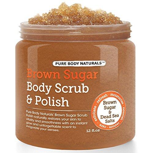 Brown Sugar Body Scrub 12.oz. by Pure Body Naturals