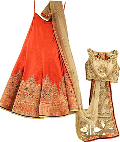 Limbudy Creation Lehenga Choli (XNTR_AGL-22-XL21_Free Size_Multi-Coloured)
