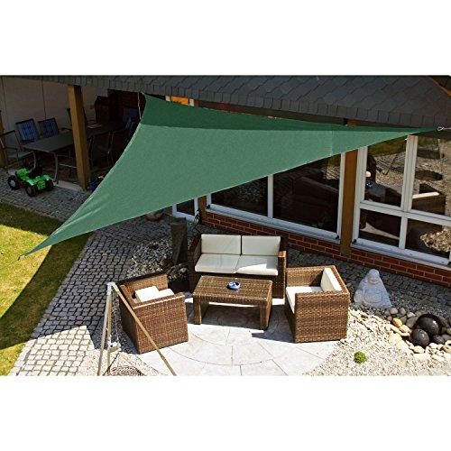 Eduplay Sonnensegel, 5x5x5m, Dreieck, grün Markise Für Schaukel