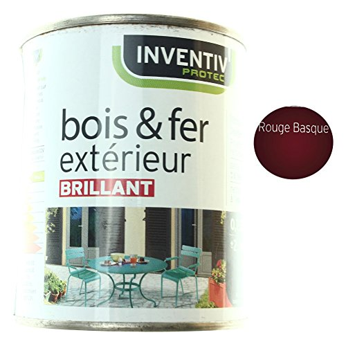 Peinture Brillante Bois & Fer extérieur Rouge Basque 25cl