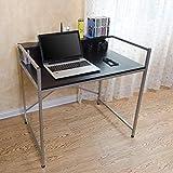 ZHAS Klapptisch Laptop-Tisch Klappschreibtisch Roller Schreibtisch Esstisch Ahorn Farbe 2 Farbe Wahlweise Größe Wahlweise Schreibtische (Farbe: SCHWARZ, Größe: 92 * 60 cm)