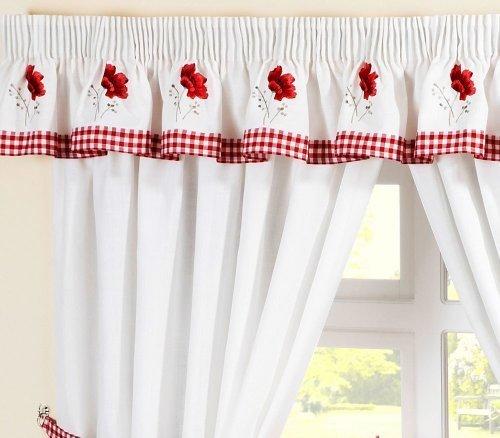 Mantovana per tende ricamata abbinabile con tende da - Apliques para cortinas ...