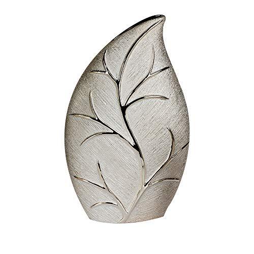 Formano Deko Vase BAUM H. 35cm B. 21cm champagner silber Keramik