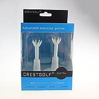 """crestgolf ajustable de plástico blanco tees de golf con hilo de integrado de 2,09""""A 2.88, pack de 2"""