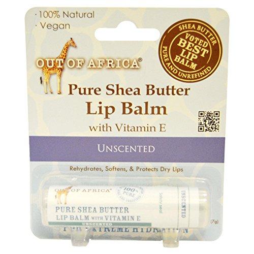 Pur Beurre de Karité Baume à lèvres avec de la vitamine E, Inodore - Out of Africa
