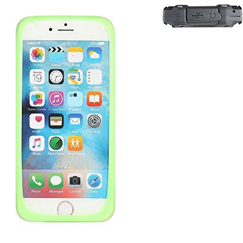 K-S-Trade Für simvalley Mobile SPT-210 Silikonbumper/Bumper aus TPU, Grün Schutzrahmen Schutzring Smartphone Case Hülle Schutzhülle für simvalley Mobile SPT-210