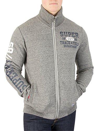 Superdry Uomo Giacca Trackster Trackster, Grigio Grigio