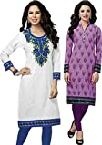 SDM Women's Kurti Printed Cotton Dress M...